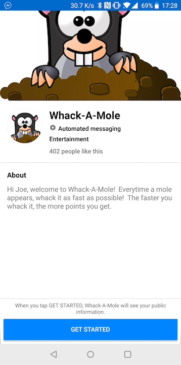 Whack-a-Mole Screenshots